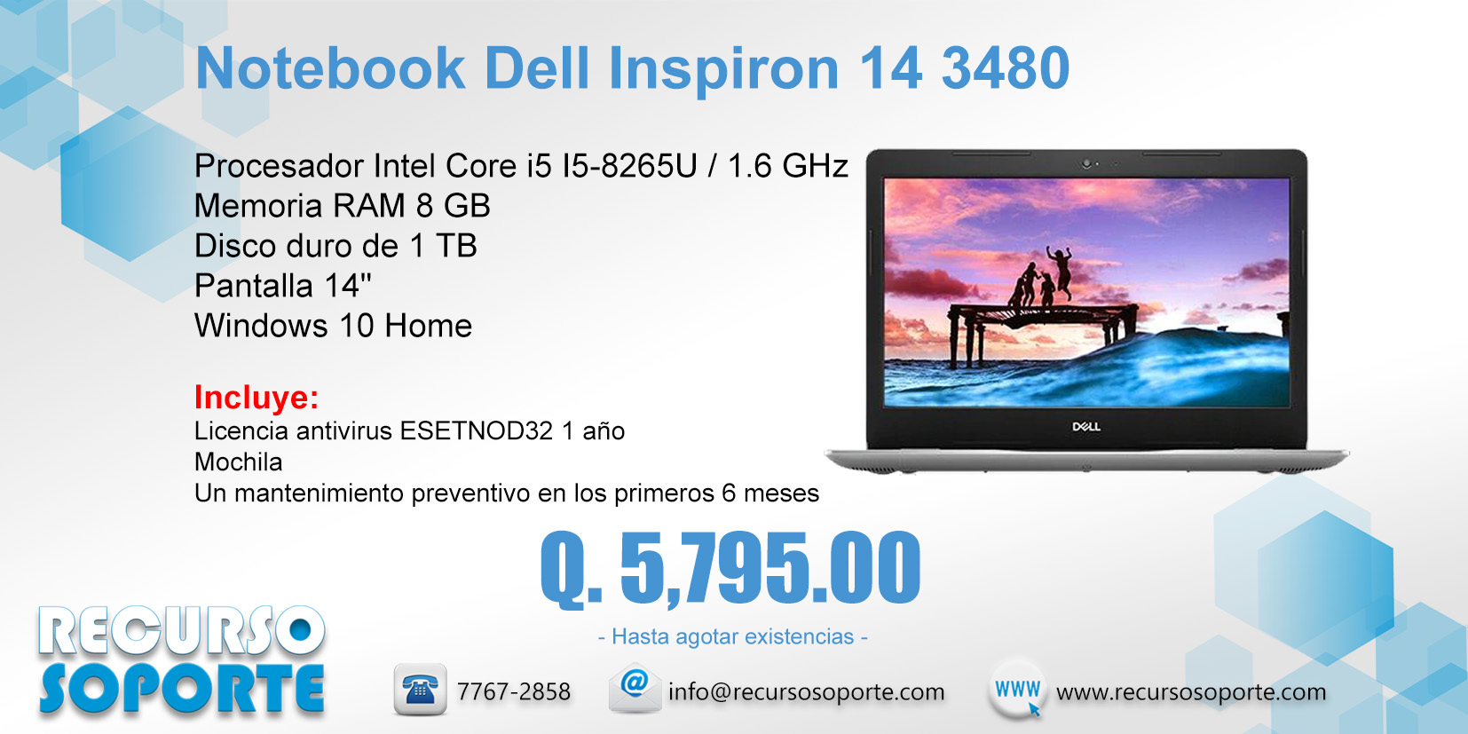 Notebook Dell Inspiron 14 3480